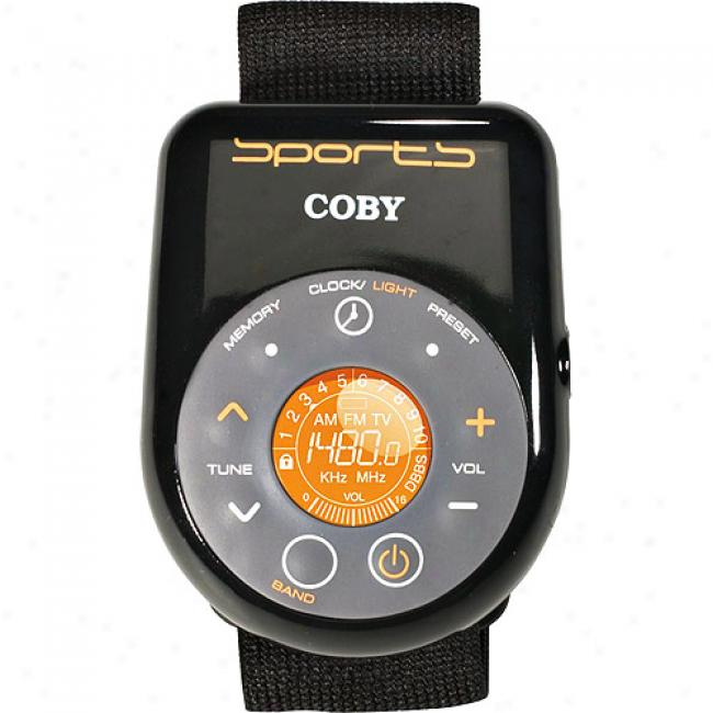 Coby All-weather Sport Am/ fm Digital Radio With Armband