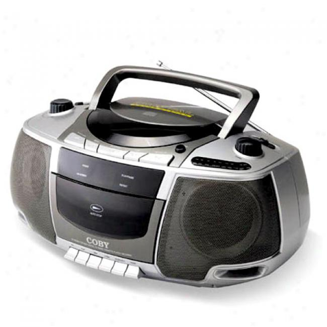 Coby Cd Boombox With Am/fm Tuner And Cassette Deck