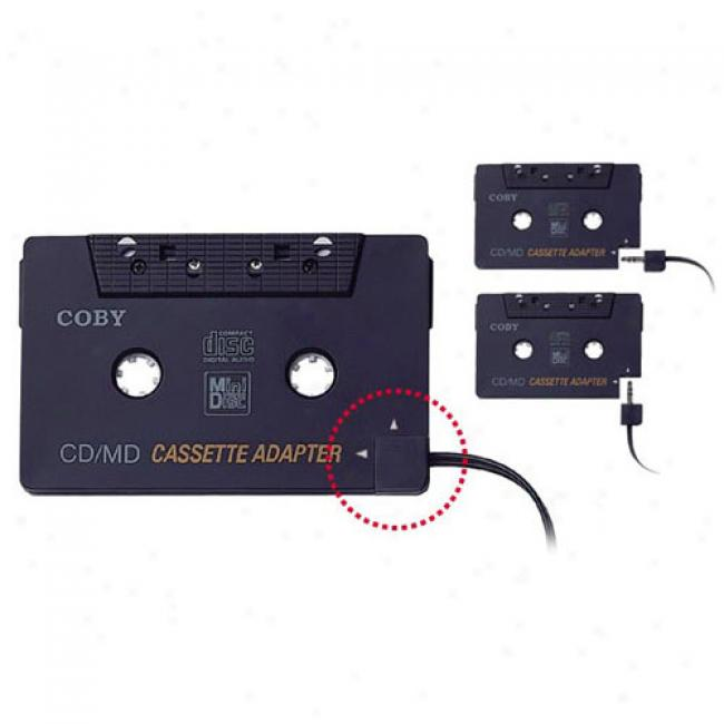 Coby Dual-position Cd/mp3-to-cassette Adapter