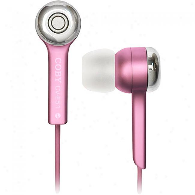 Coby Jammerz Isolation Stereo Headphones - Pink, Cv-e51 Pnk