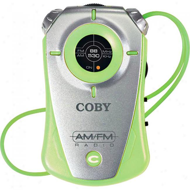 Coby Mini Am/fn Pocket Radio - Green