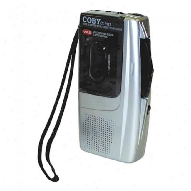 Coby Voice-activated Microcassette Recorder