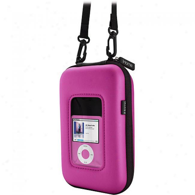 Colortunes Water-resistant Mp3 Player Pouch W/ Stereo Speakers, Pink
