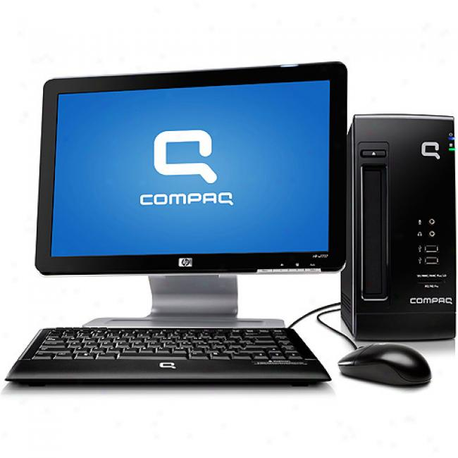 Compaq Cq2003wm-b Desktop Pc With Windows Xp &hp 17'' Widescreen Lcd Monitor, 1.6 Ghz Intel Atom 230 Processoe