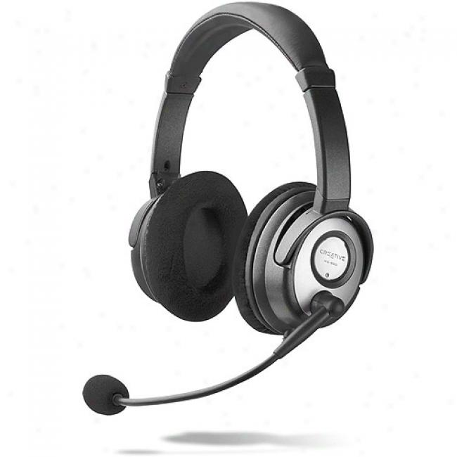 Creative Labs Hs-900 Compiter Gming Headset For Online Gambling Of Skype Voip