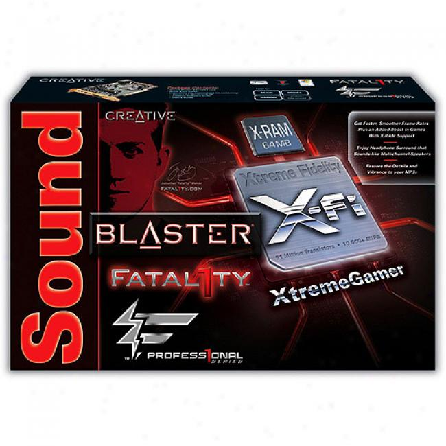 Creative Labs Sound Blaster Titanium Fatal1ty Pro Pci-express Sound Card