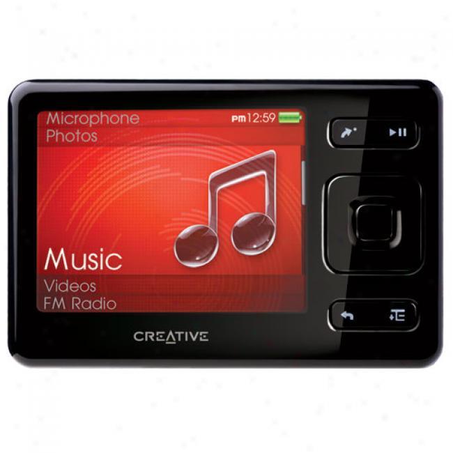 Creative Zen 8gb Mp3 Video Player, Black