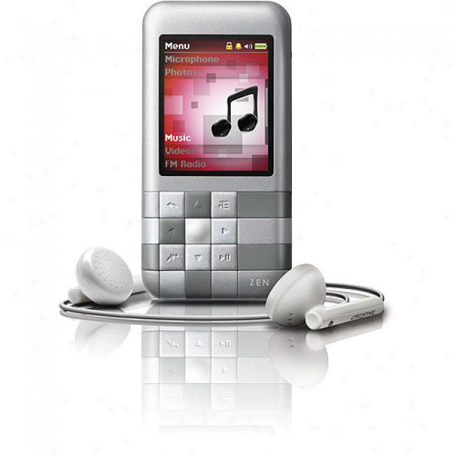 Creative Zen Mozaic 4gb Mp3 Video Player, Silver