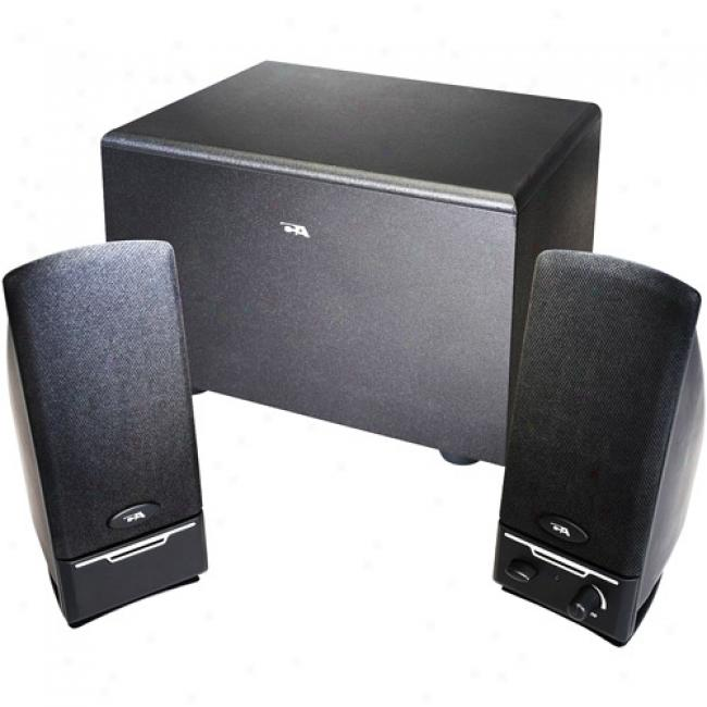 Cyber Acoustics 2.1 3-piece Computer Speaker System With Subwoofer