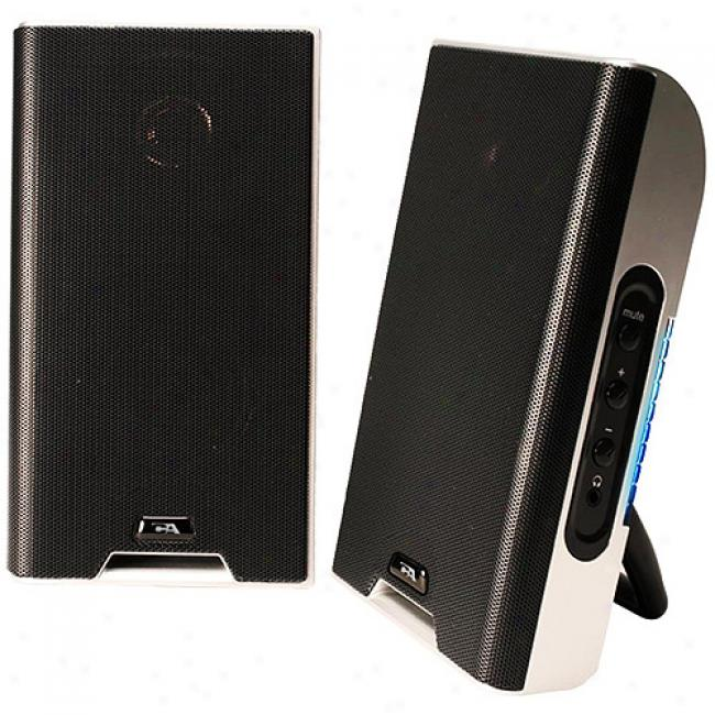Cyber Acoustics Usb Portable Speaker System For Laptops And Mp3s