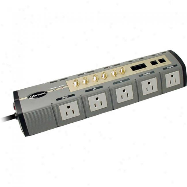 Cyberpower 10-outlet Home Theater Surge Protector
