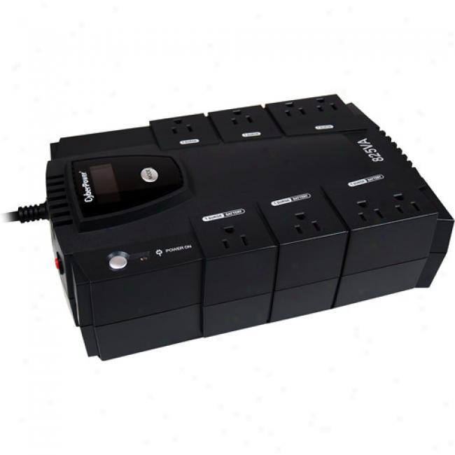 Cyberpower 825va / 450w Intelligent Lcd Battery Backup Ups