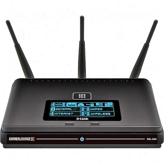 D-llnk Dl4500 Wireless-n Xtreme N Gaming Router With Gigabit Lan And Built-in Lcd Scrden