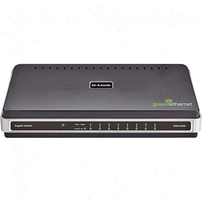 D-link Dgs2208 8-port 10/100/1000mbps Gigabit Switch