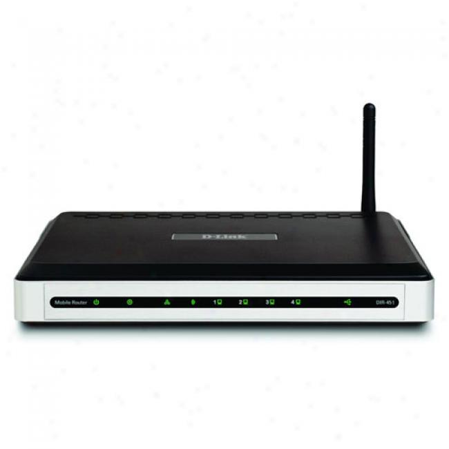 D-link Dir-451 3g Mobile Wireless-g Router For Umts/hsdpa Networks