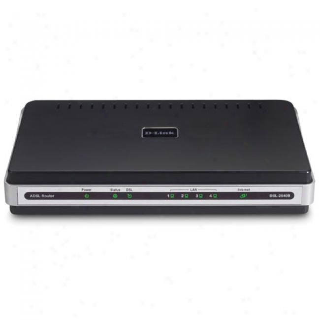 D-link Dsl-2540b 4 Port 10/100mbps Router And Adsl2/2+ Modem Gateway