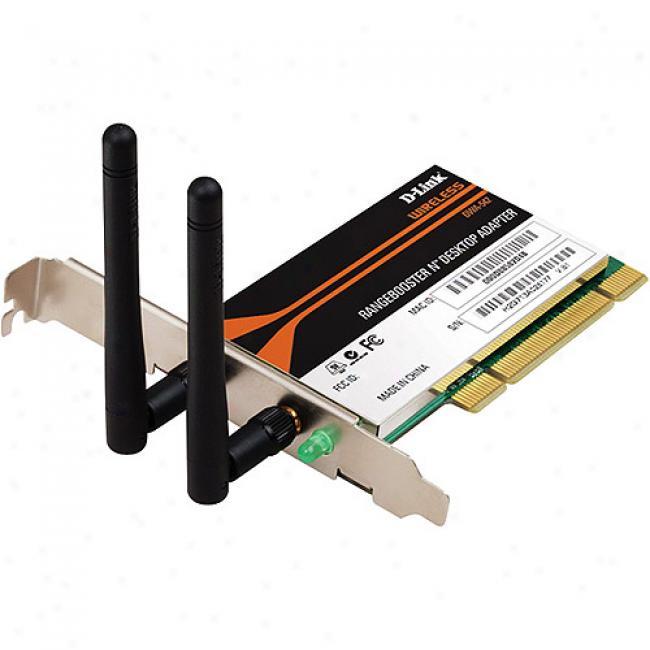 D-link Dwa-542 Wireless-n Rangebooster N Pci Desktop Adapter