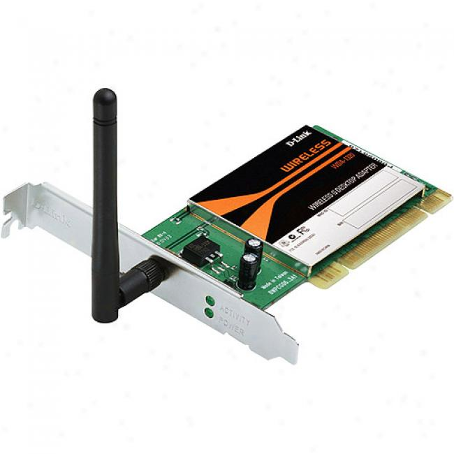 D-link Wda-1320 Wireless-g 54mbps Pci Desktop Adapter