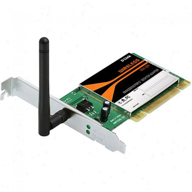 D-link Wda-2320 Wireless-g 108mbps Rangebooster G Pci Dsktop Adapter