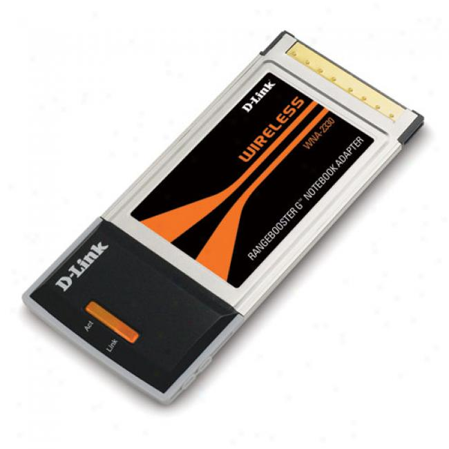 D-link Wna-2330 Wireless-g 108mbps Rangebooster G Pc-card Notebook Adapter