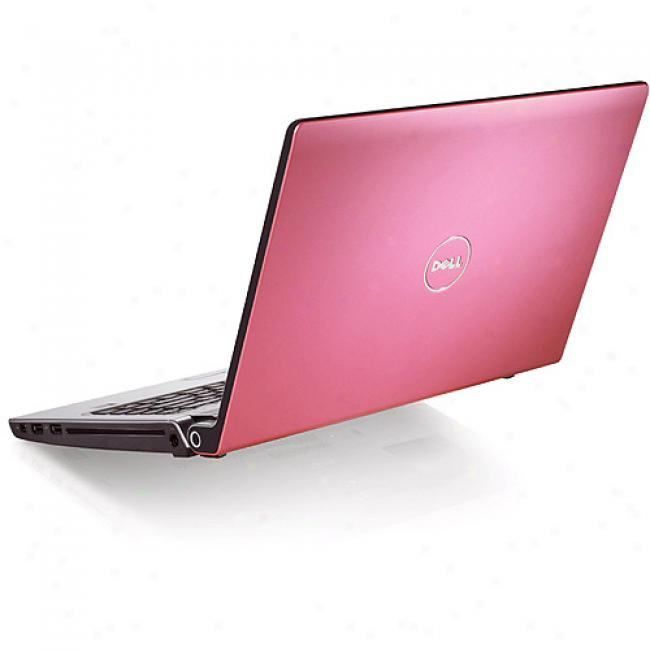 Dell 17'' Studio 17 Pink Laptop Pc W/ Intel Pentium Dual-core Processor T3400