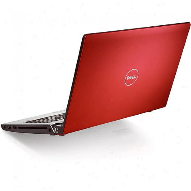 Dell 17'' Studio 17 Red Laptop Pc W/ Intel Pentium Dual-ore Processor T3400