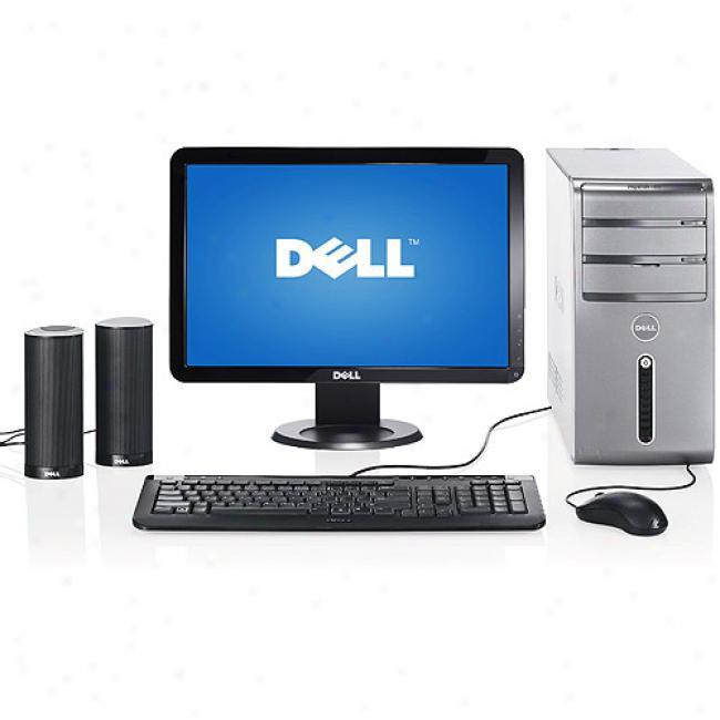 Dell Inspiron 530 Desktop Pc W/ 17'' Lcd Monitor With 2.2 Ghz Intel Celeron Processor 450