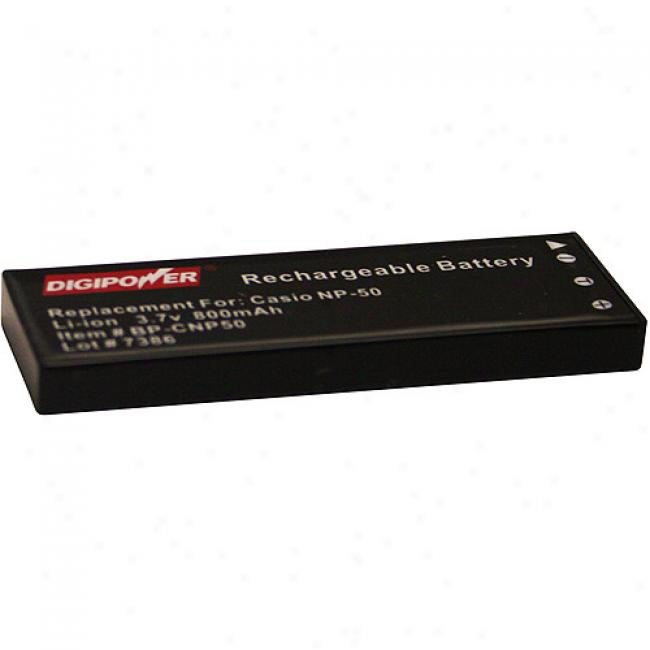 Digipower Bp-cnp50 Replacement Li-ion Battery For Casio Np-50dba, Compatible Through  Casio Exilim Ex-v7 And Ex-v8