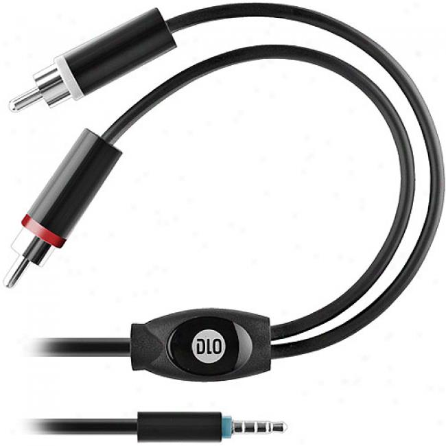 Dlo 3.5mm-to-rca Y-adapter Cable For Iphone And Iphone 3g