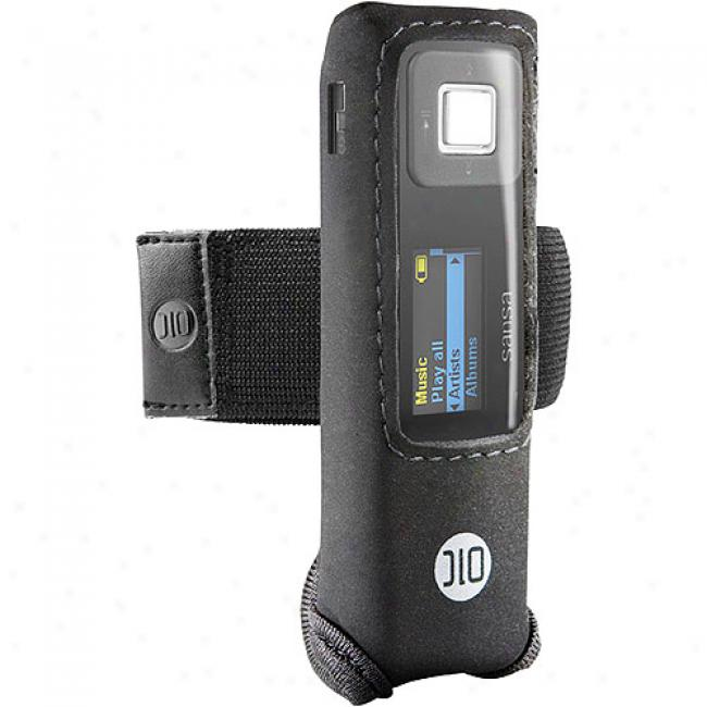 Dlo Black Action Jacket For Sansa Express Mp3 Idler