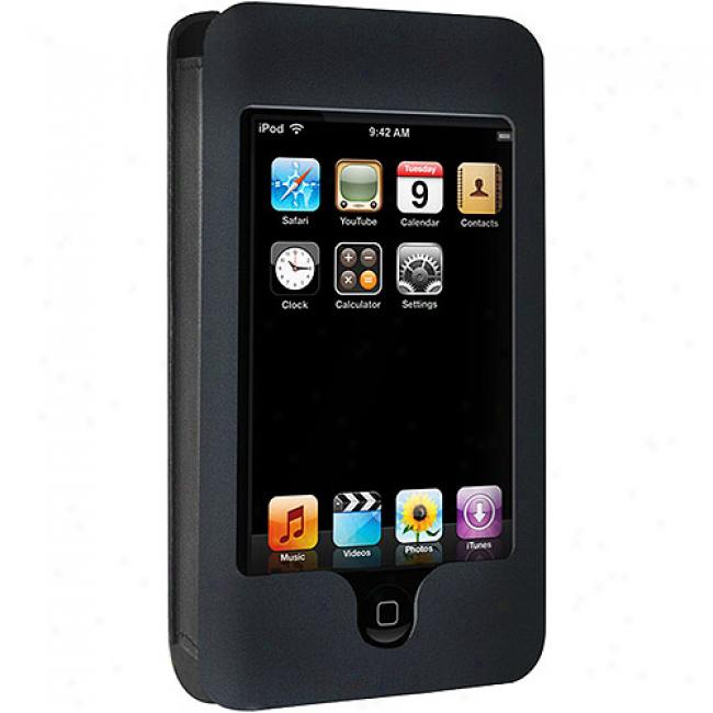 Dlo Black Hipcase Leather Sleeve For Ipod Touch