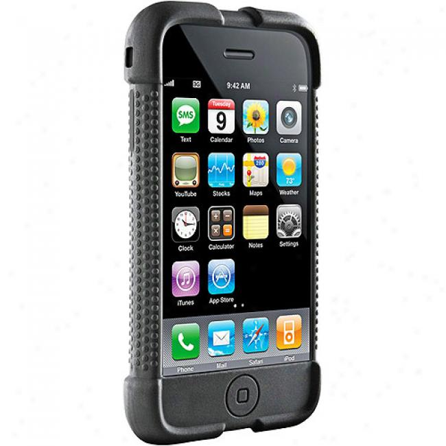 Dlo Black Jam Jacket Silicone Case For Iphone 3g