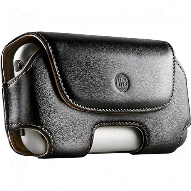 Dlo Brown Hipcase Leather Holster For Iphone And Iphone 3g