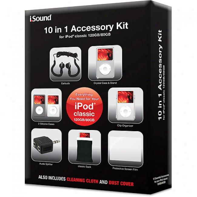 Dreamgear 10-in-1 Accessory Kit For Ipod Classic 120gb/80gb