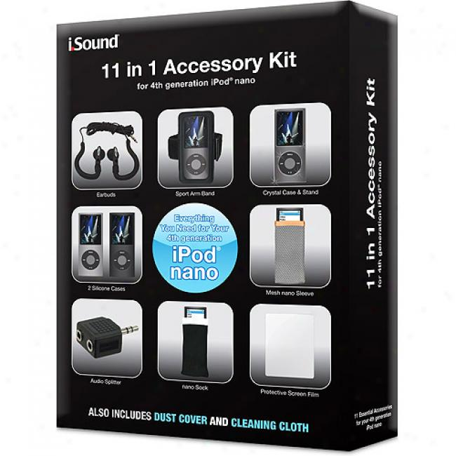 Dreamgear 11-in-1 Accessory Kit For 4th Generation Ipod Nano