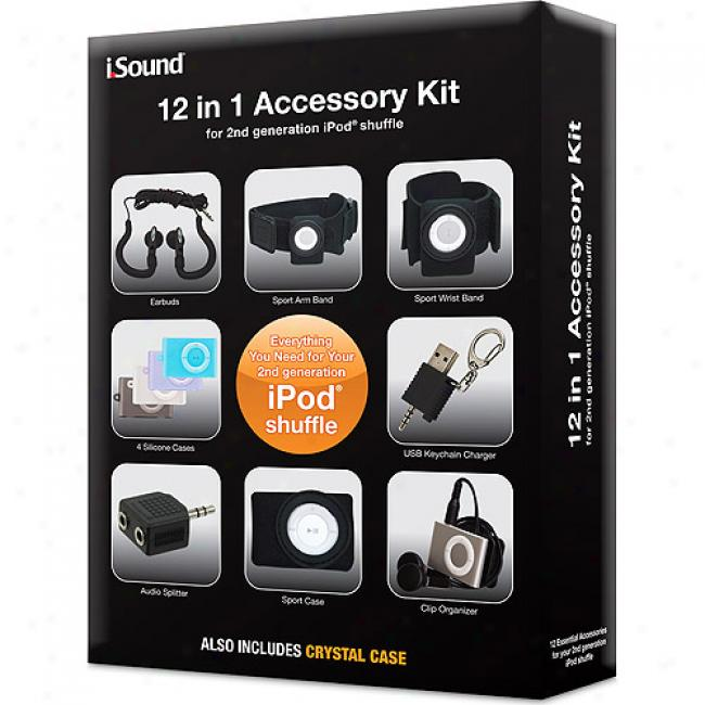 Dremagear 12-in-1 Accessory Kit For 2nd Generation Ipod Shuffoe