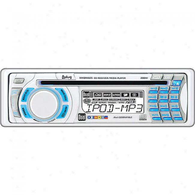 Dial Electronics Mxvp65 Marine Stereo With 2 Speakers And Mp3 Interface