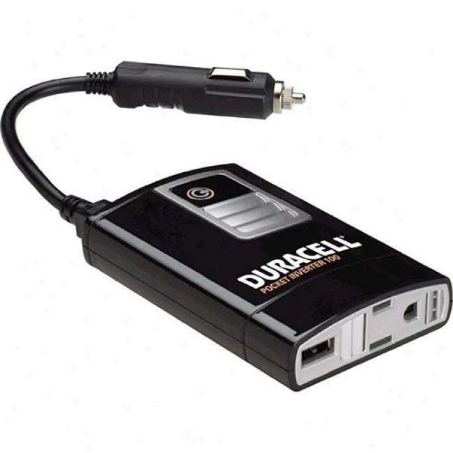 Duracell - 100-watt Endure Power Inverter, Dmpi-100
