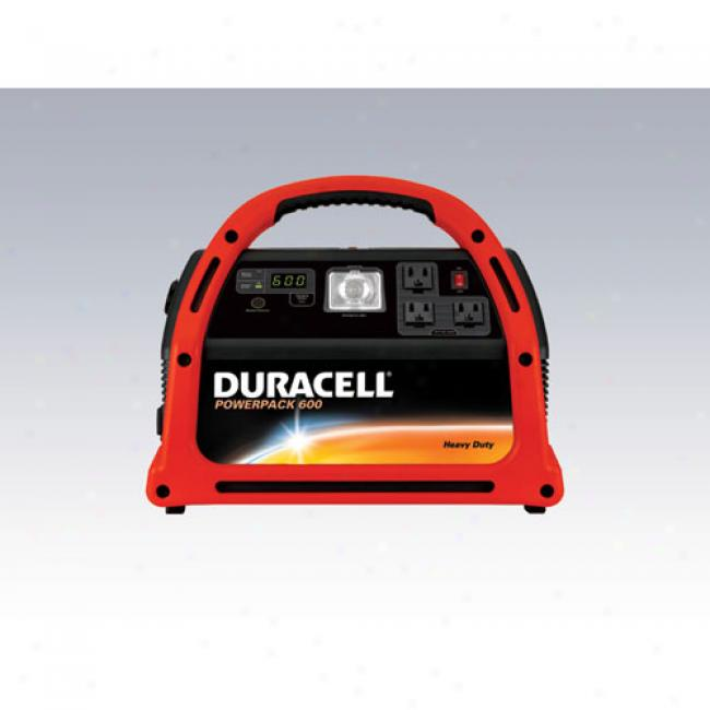 Duracell - 600-watt Powerpack Power Inverter