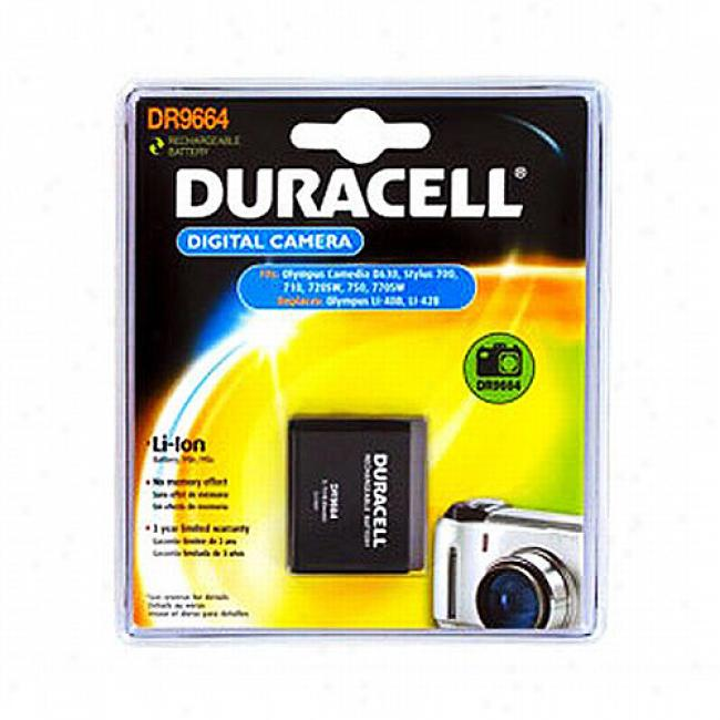 Duracell Camera Battery For Olympus Li-40b, Nikon En-el10, Fuji Np-45