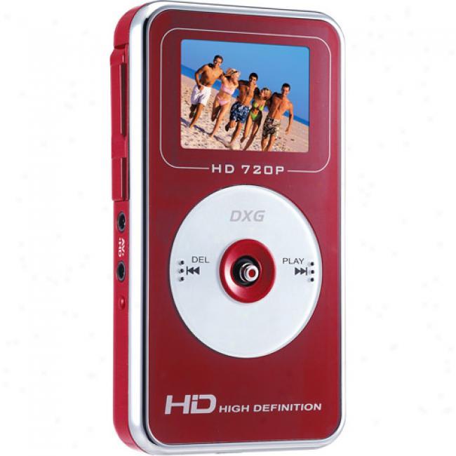 Dxg 567v Red 5mp High-definition (720p) Digital Video Camcorder