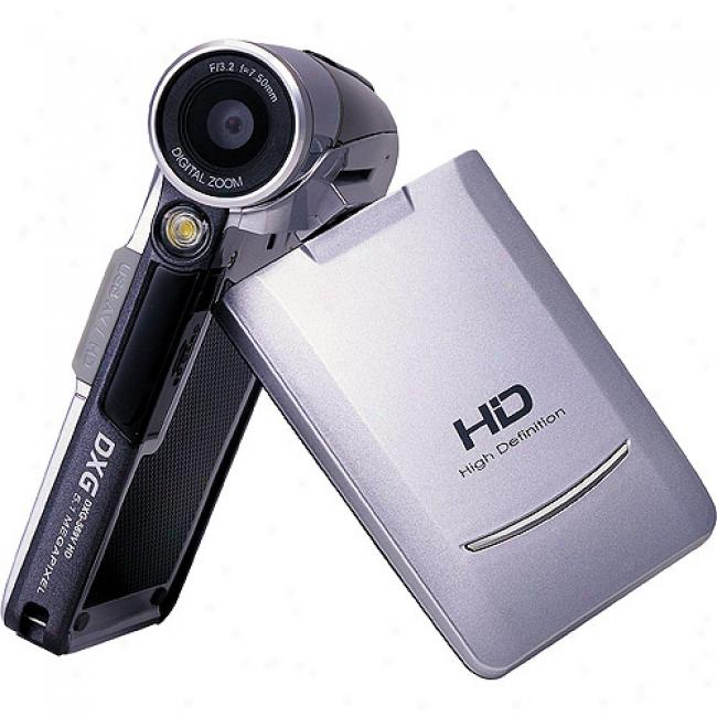 Dxg 569v White Ultra-slim Hd Digital Camcorder