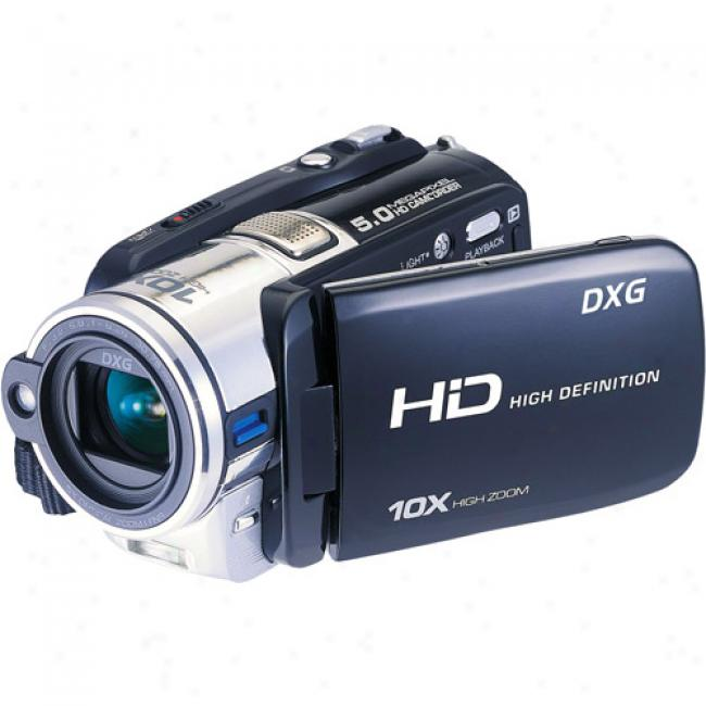 Dxg-595v 5mp Hd Camcorderr With 5x Optical Zoom