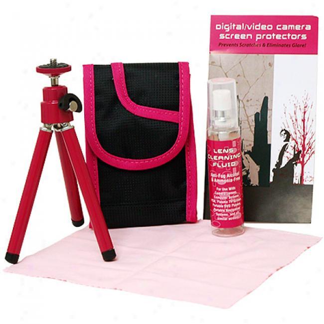 Eco Trends Digital Camera & Camcorder Starter Kut, Pink