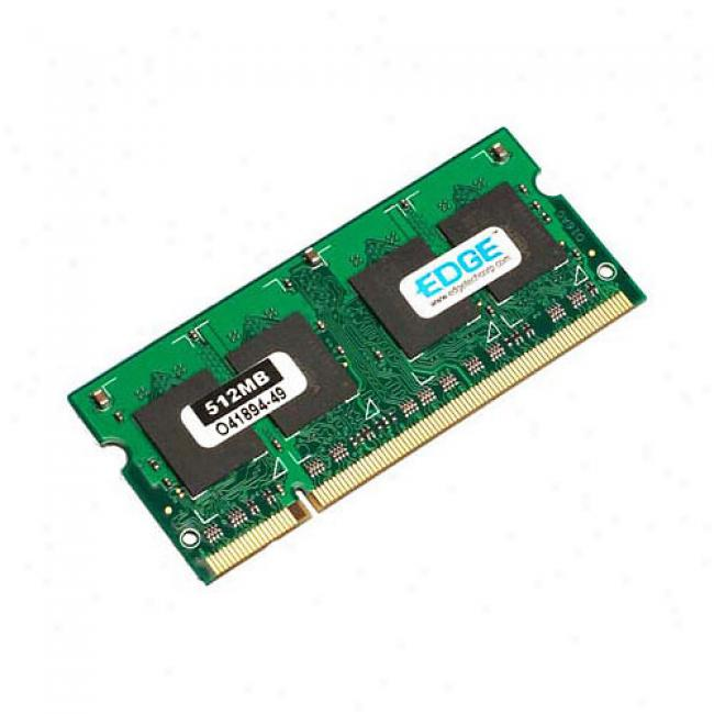 Edge 512mb Pc2-4200 Ddr2 533mhz 200-pin Sodimm Notebook Memory Module
