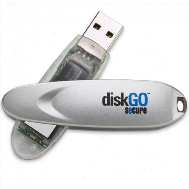 Edge 8gb Diskgo Secure Usb 2.0 Flash Drive, Silver