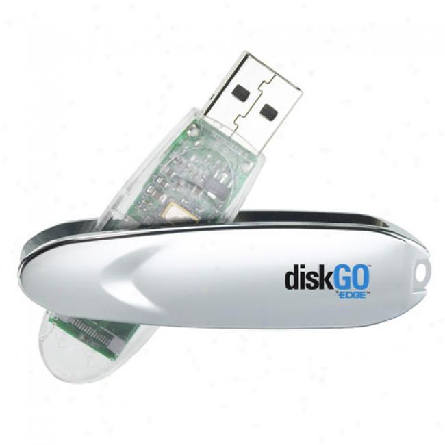 Edge Tech 2gb Diskgo! Usb 2.0 Flash Drive, Silver