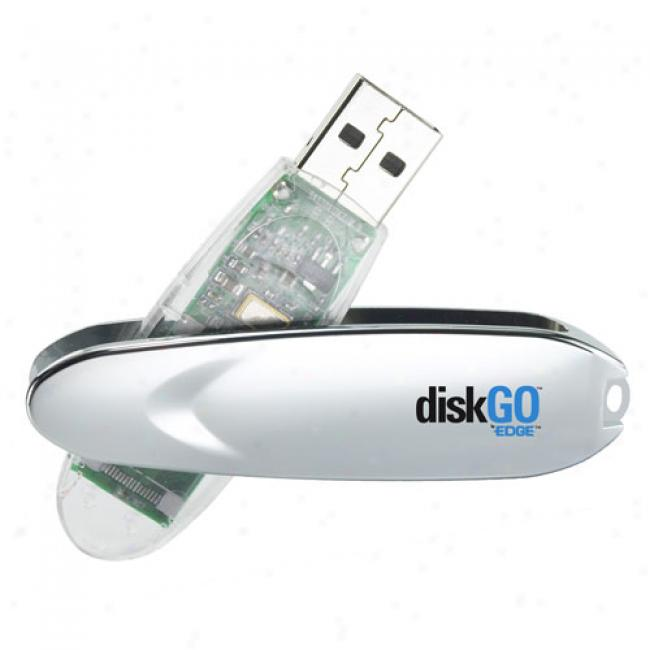 Edge Tech 8gg Diskgo! Usb 2.0 Flash Drive, Silver