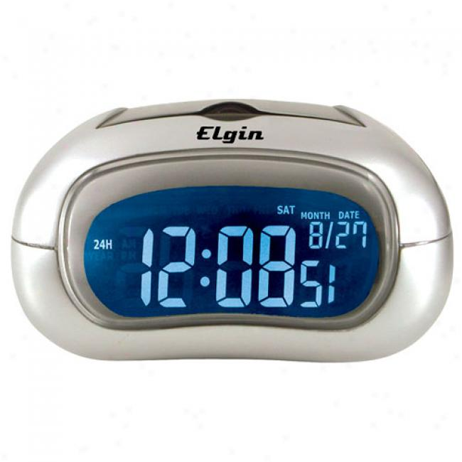 Elgin Marked by ~ity Alarm Clock With Selectable Display Color