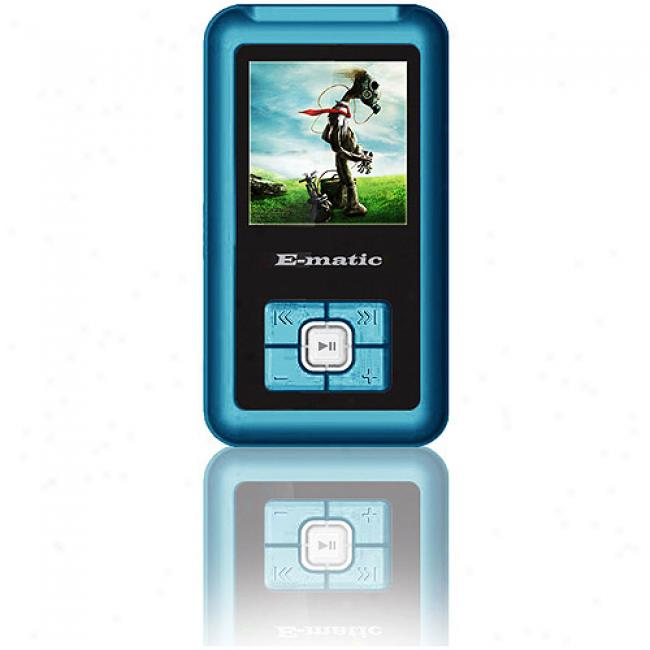 Ematic 2gb Video Mp3 Player W/ 1.5'' Screen, Blue